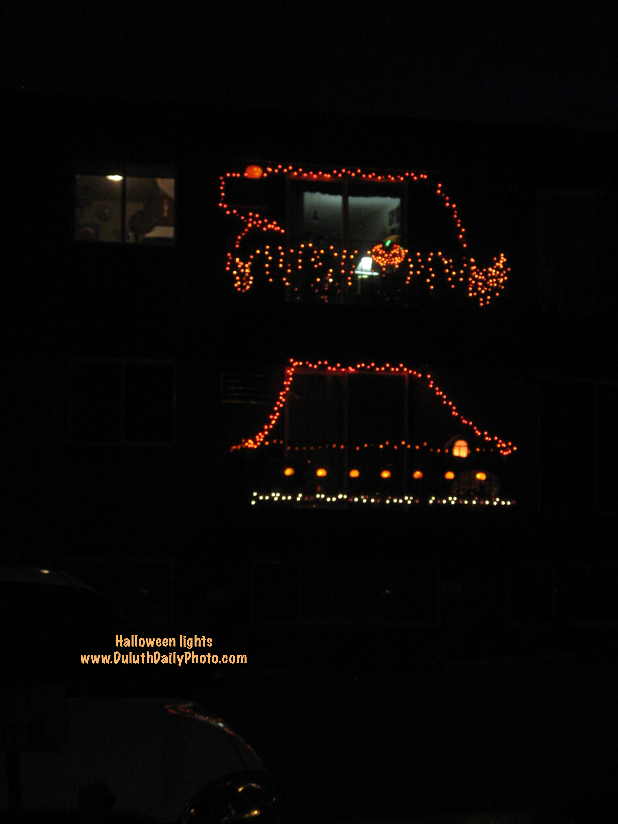 halloween decorations light up apartment balconies - Light Up Halloween Decorations