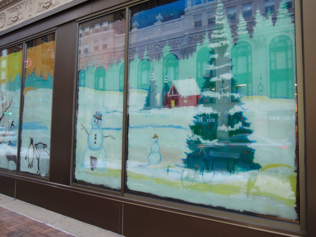 Downtown painted window